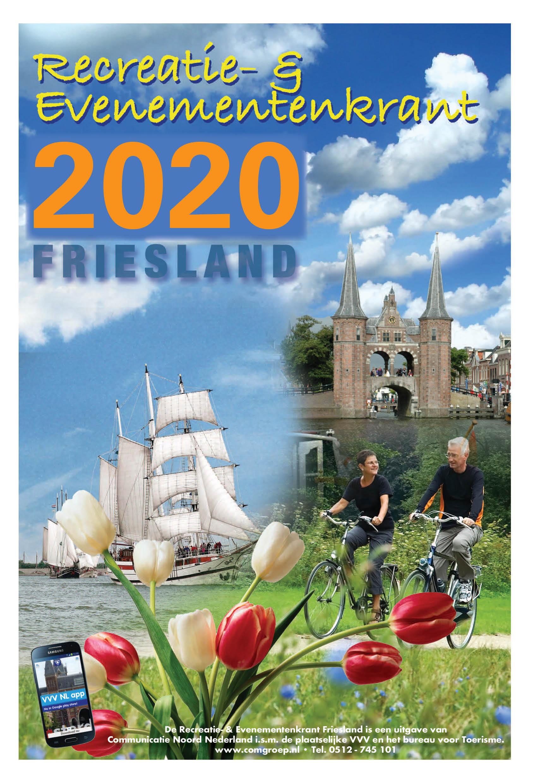 Recreatiekrant Friesland 2020_cover